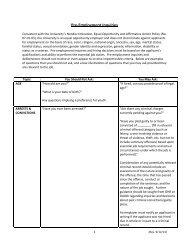 Pre-Employment Inquiries Guide