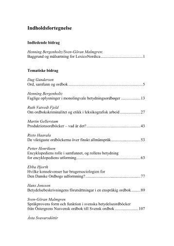 Systematisk inledning till Nordisk lexikografisk ordbok