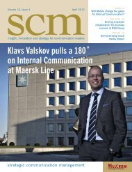 Klavs Valskov pulls a 180˚ on Internal Communication at Maersk Line