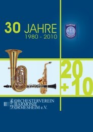 Festschrift_20+10.pdf - Orchesterverein Harmonie Ormesheim