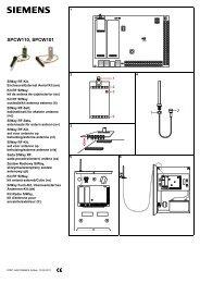 SPCW110, SPCW101 - Simon Technologies