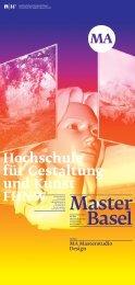 MA Masterstudio Design - Institut Design- und Kunstforschung IDK