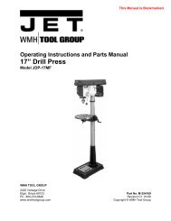 Jet JDP-17 drill press manual - Micro-Machine-Shop.com
