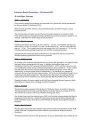 Preliminary Results Presentation – 28 February 2005 - Inchcape