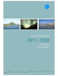 Kraftsystemutredning Helgeland Hovedrapport - Helgelandskraft