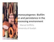 Listeria monocytogenes: Biofilm formation and persistence in the ...