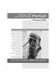 Fastenzeit 2010 - Pfarre Heilige Familie, Lienz - WordPress.com