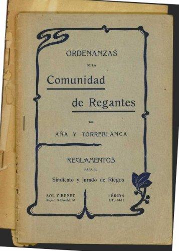 Cornunidad de Regantes - Sol-Torres