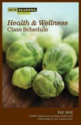 Health & Wellness - New Seasons Market
