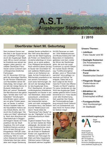 Augsburger Stadtwaldthemen 02/2010