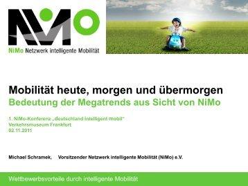 Mobilitätsmix der Zukunft - NiMo Netzwerk intelligente Mobilität