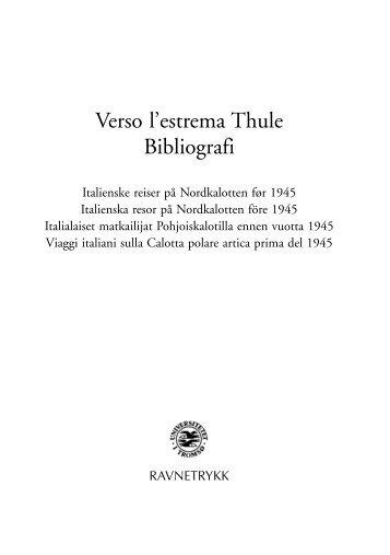 Verso lÕestrema Thule - Nordland Fylkesbibliotek