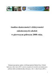 Analiza skuteczności i efektywności zakończonych szkoleń w ...