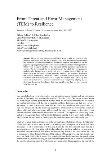 Proposal Essay Sample From Threat And Error Management Tem To Resilience  Leonardo Topics For High School Essays also What Is The Thesis Of An Essay Illusions Of Explanation A Critical Essay On Error   Leonardo My Hobby Essay In English