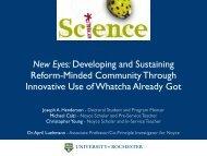 New Eyes: Developing and Sustaining Reform-Minded Community ...
