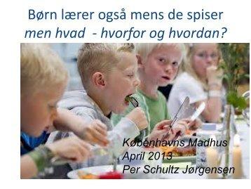 Børn lærer også mens de spiser - Københavns Madhus
