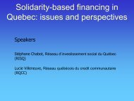 Solidarity-based financing in Quebec - The Canadian CED Network