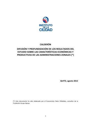 calderón difusión y profundización de los resultados del estudio ...