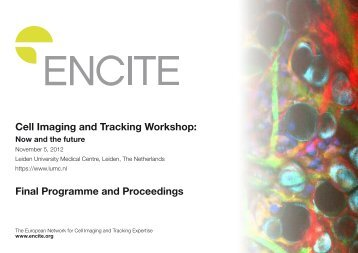 Cell Imaging and Tracking Workshop: Final Programme and ... - Encite