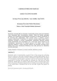 Sarımsak Temizleme Makinesi - Meslek Yüksekokulu