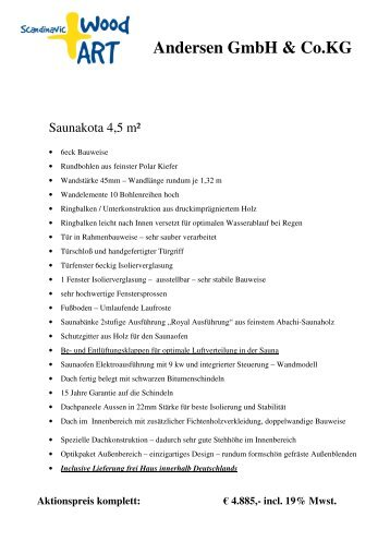 Angebotsvorlage Sauna 4,5 2010 pdf - Scandinavic Wood Art
