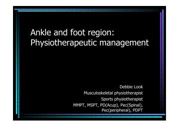 Ankle and foot region - Hong Kong Physiotherapy Association