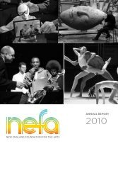 NEFA Annual Report 2010 - New England Foundation for the Arts