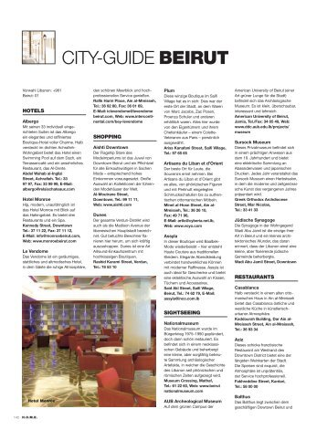 CITY-GUIDE BEIRUT