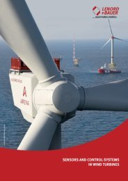 SenSorS and control SyStemS in wind turbineS