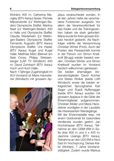 Alv-Info - Aargauischer Leichtathletikverband