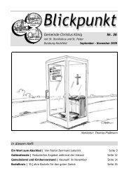 Gemeinde Christus König Nr. 36 In diesem Heft - Pfarrei Liebfrauen ...