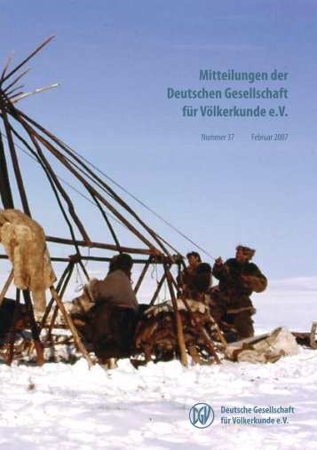 DGV-Tagung 2007 - Deutsche Gesellschaft für Völkerkunde