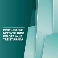 Profilisanje nepovoljnog položaja na tržištu rada - Međunarodna ...