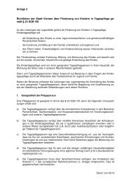 Richtlinien der Stadt Viersen über Förderung von Kindern in ...