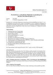 Protokoll der 3. ordentlichen Mitgliederversammlung des Berliner ...