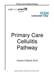 Primary Care Cellulitis Pathway - Leicestershire Medicines Strategy ...