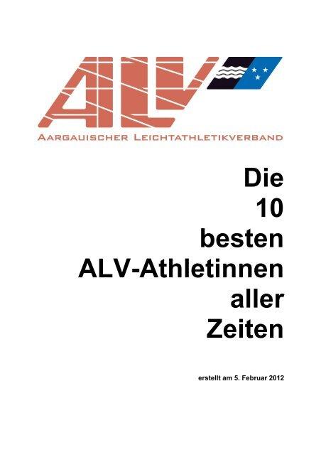 Die 10 besten Alv-Athletinnen aller Zeiten