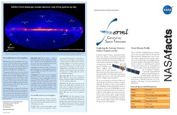 Fermi Fact Sheet - Fermi Gamma-ray Space Telescope - Sonoma ...