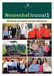 Journal Neuzenhof - Golfpark Kurpfalz News