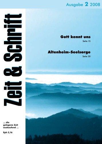 Heft 2/2008 - Zeit & Schrift