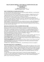 TRATTAMENTO RIEDUCATIVO DELLE LESIONI ... - DMSA
