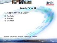 Technik Fakten Ausblick »Analog vs. Hybrid vs. Digital« Security ...
