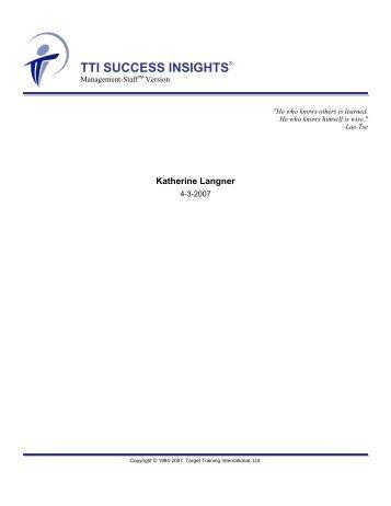 TTI SUCCESS INSIGHTS®