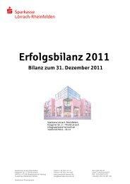 Erfolgsbilanz 2011 - Sparkasse Lörrach-Rheinfelden