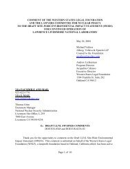 Page 1 of 10 COMMENT OF THE WESTERN STATES LEGAL ...