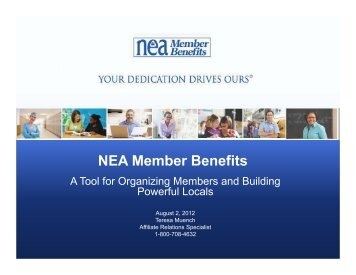 products and services - NEA Member Benefits