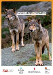 ZOONOSES IN SWEDEN IN 2008 - SVA
