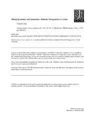 Mixing qualitative and quantitative methods: Triangulation in action