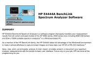 HP E4444A BenchLink Spectrum Analyzer Software