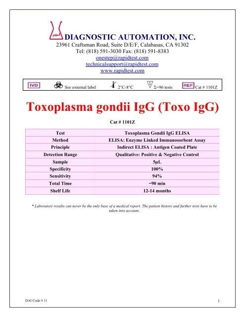 toxoplasma gondii igg pozitív